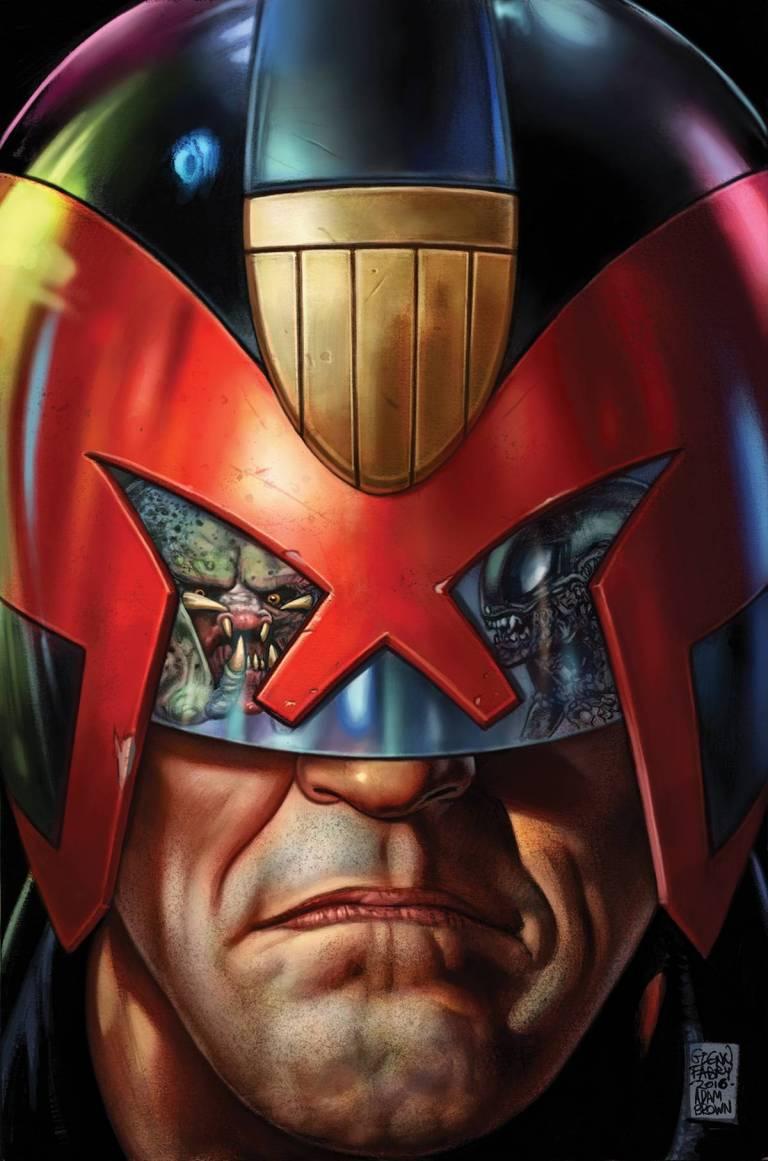 Predator Vs Judge Dredd Vs Aliens #1 (Cover A Glenn Fabry)
