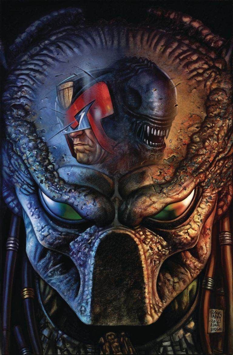 Predator vs. Judge Dredd vs. Aliens #3 (Glenn Fabry Regular Cover)