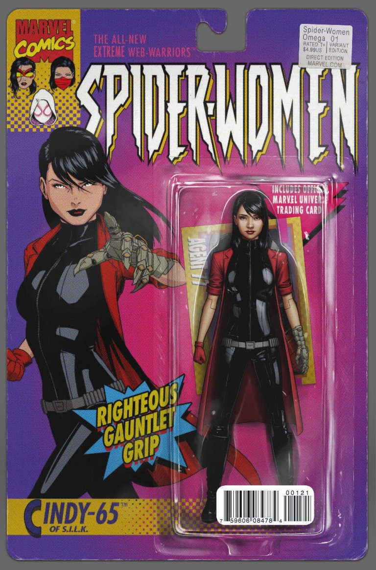 Spider-Women Omega #1 (Cover B John Tyler Christopher Action Figure Variant)