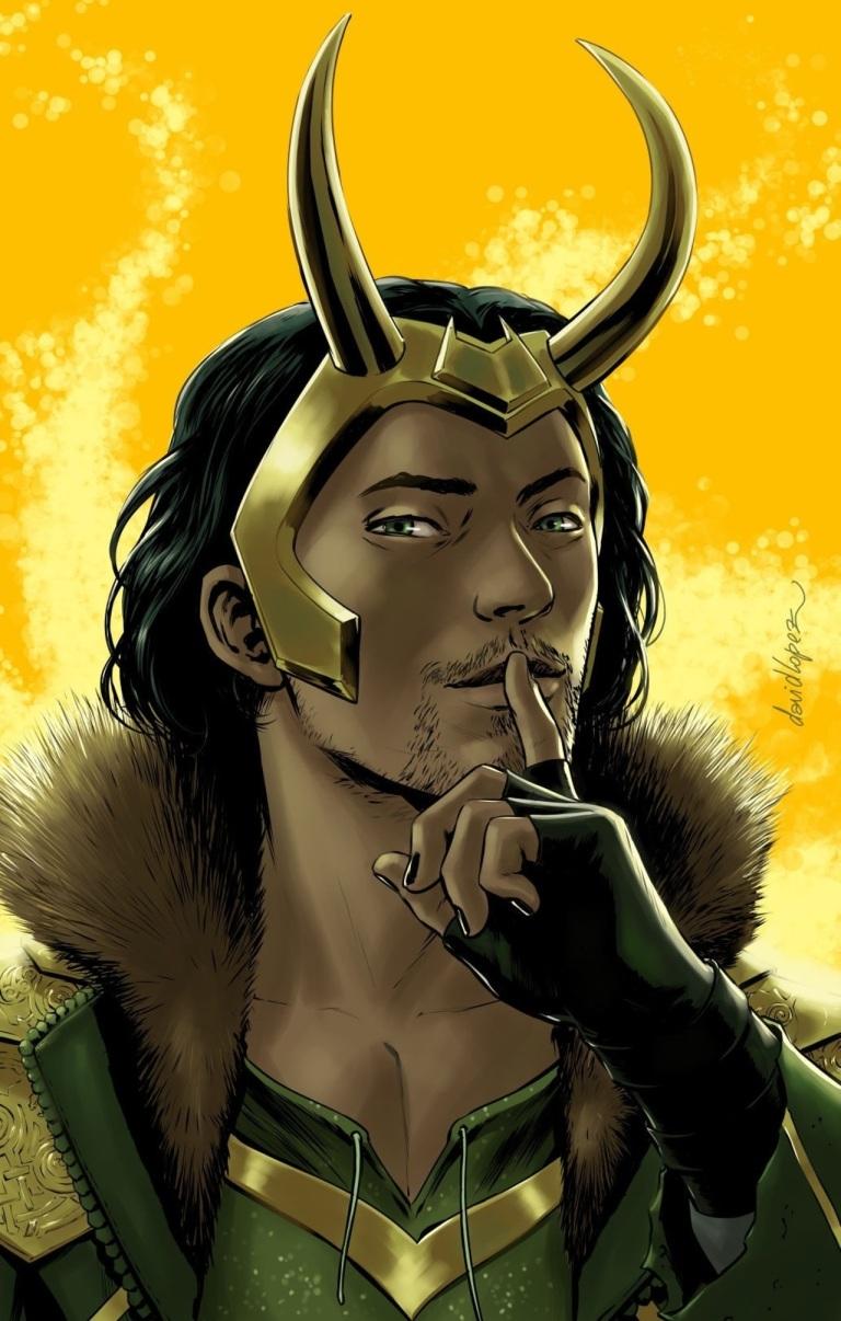 Vote Loki #4 (David Lopez Variant Cover)