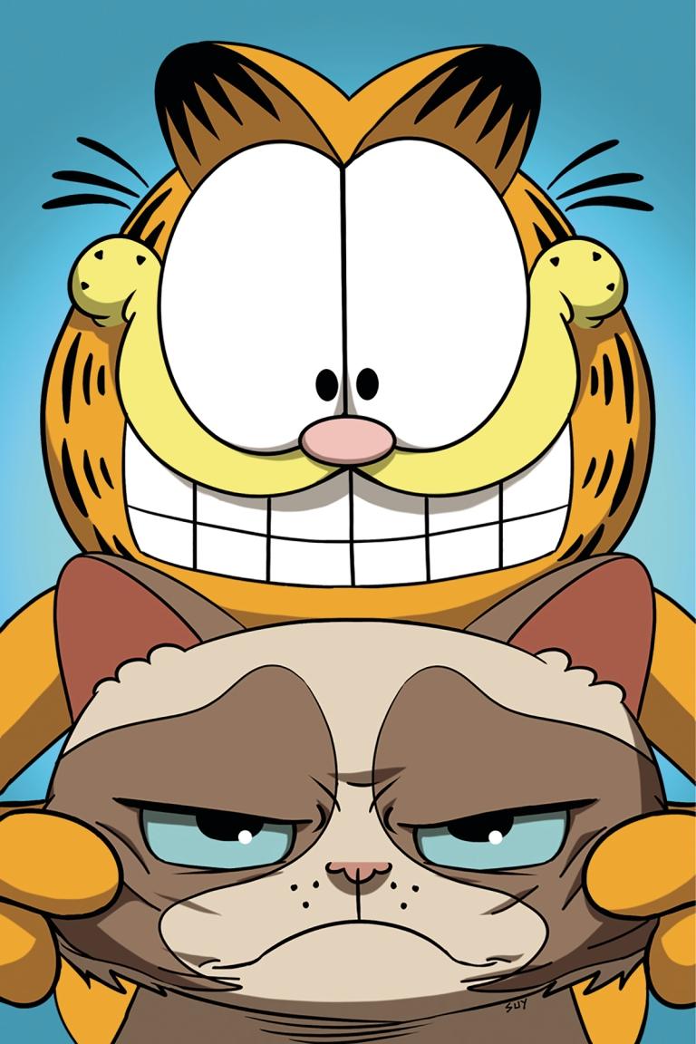 Grumpy Cat Garfield #2 (Cover F Steve Uy Virgin Variant)