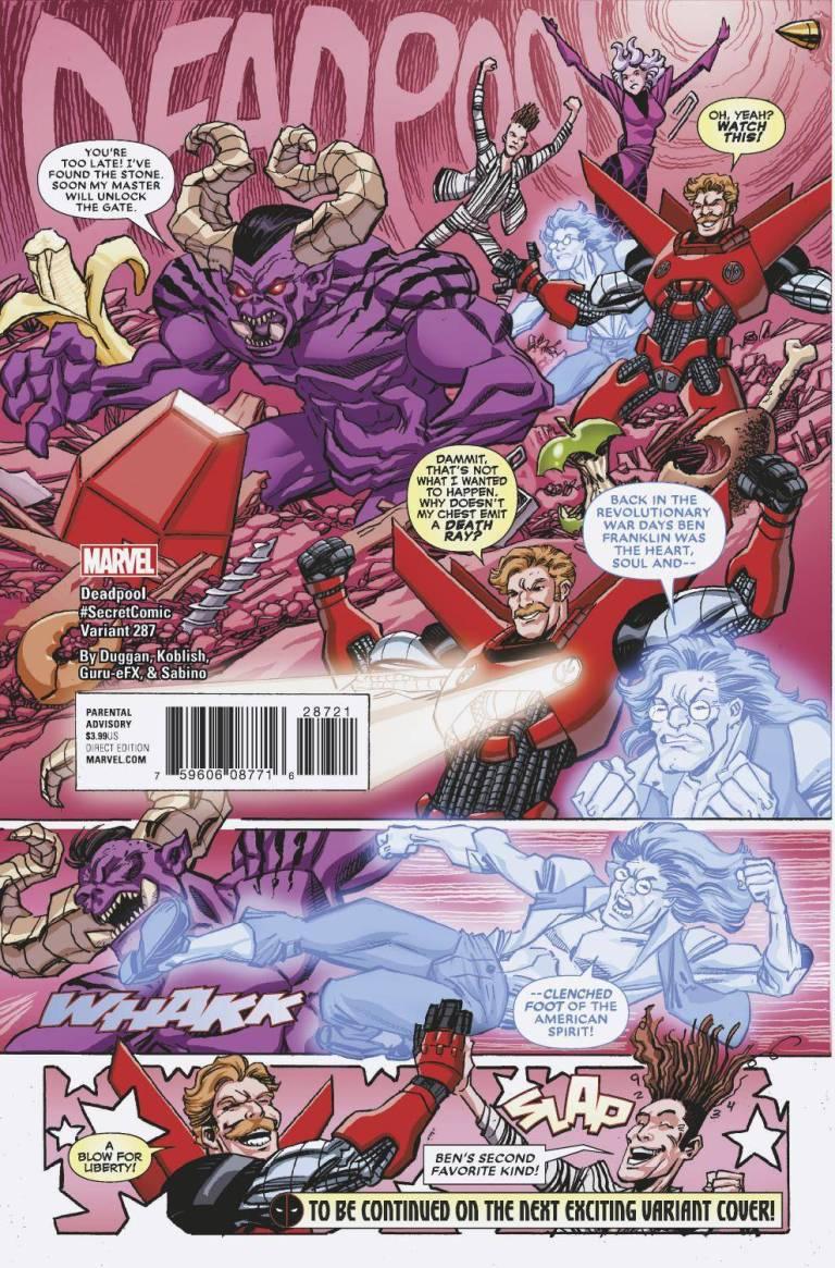 Despicable Deadpool #287 (Cover E Scott Koblish Secret Comic Variant)