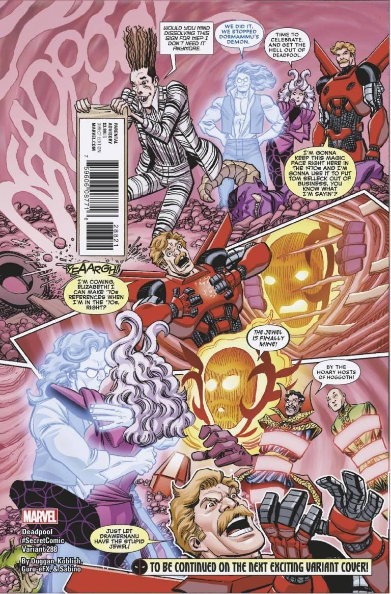 Despicable Deadpool #288 (Cover B Scott Koblish Secret Comic Variant)
