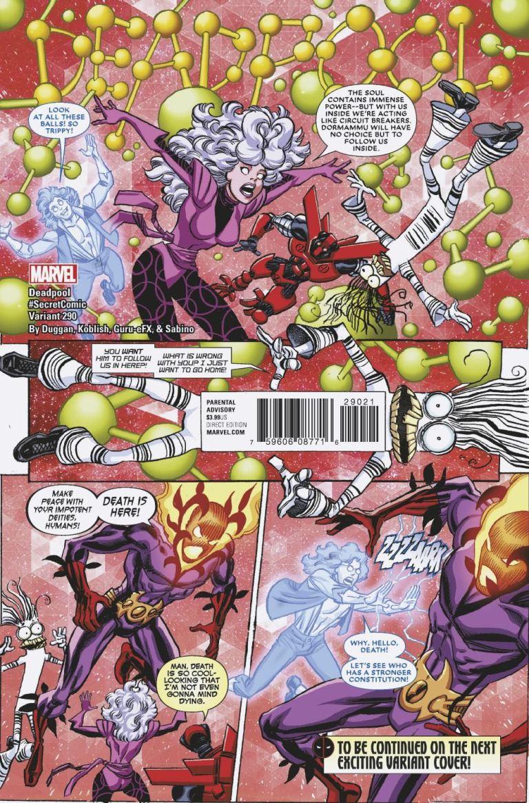 Despicable Deadpool #290 (Cover B Scott Koblish Secret Comics Variant)