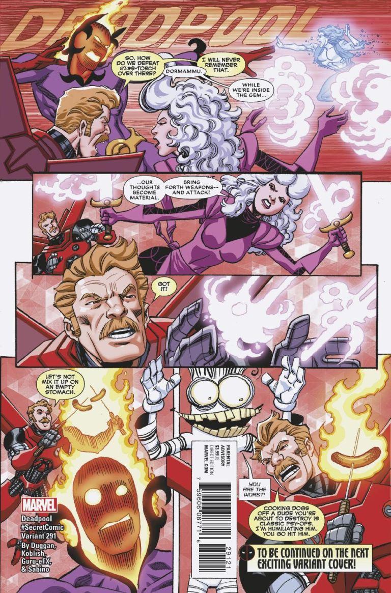 Despicable Deadpool #291 (Cover B Scott Koblish Secret Comic Variant)