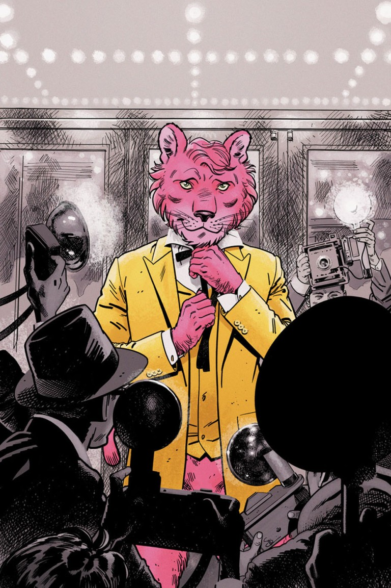 Exit Stage Left The Snagglepuss Chronicles #1 (Cover B Evan Doc Shaner)