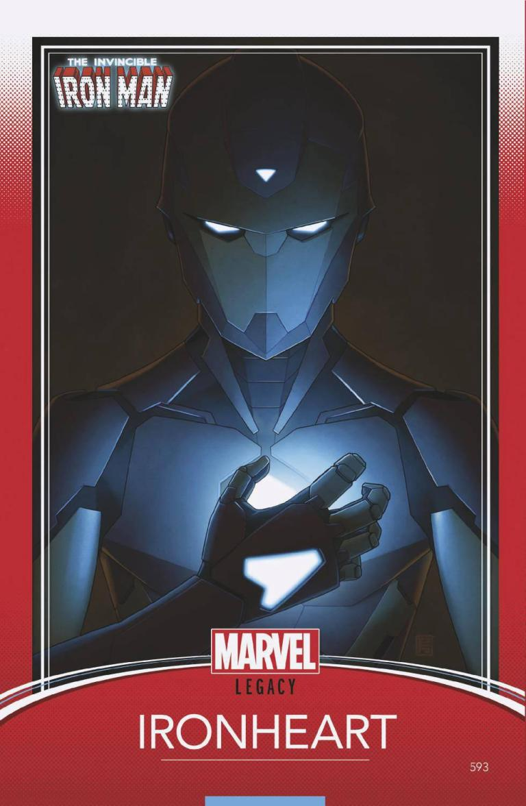 Invincible Iron Man #593 (Cover F John Tyler Christopher Trading Card Variant)