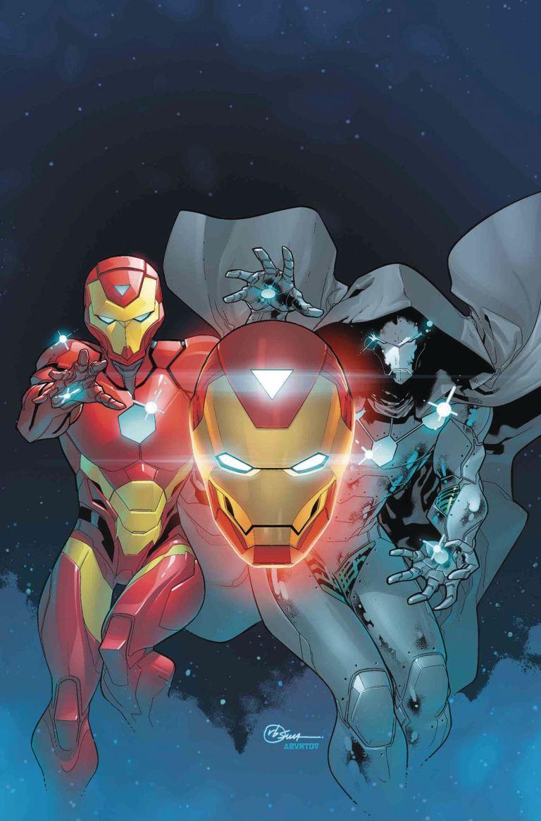 Invincible Iron Man #595 (R. B. Silva Cover)