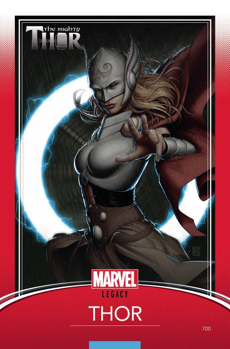Mighty Thor #700 (Cover G John Tyler Christopher Trading Card Variant)