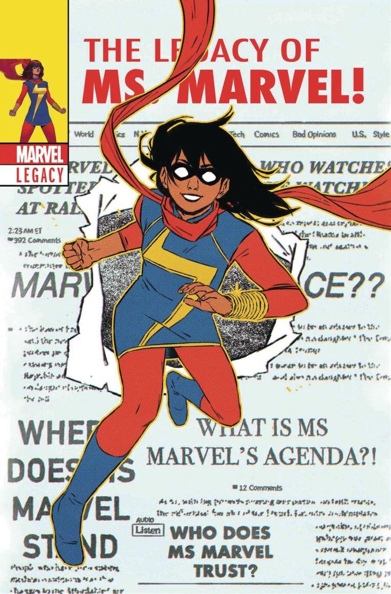 Ms. Marvel #25 (Cover C Jacob Wyatt Lenticular Homage Variant)