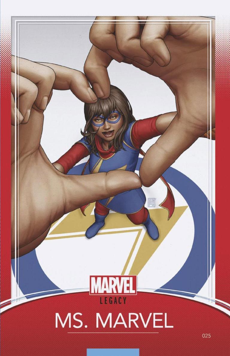 Ms. Marvel #25 (Cover E John Tyler Christopher Trading Card Variant)