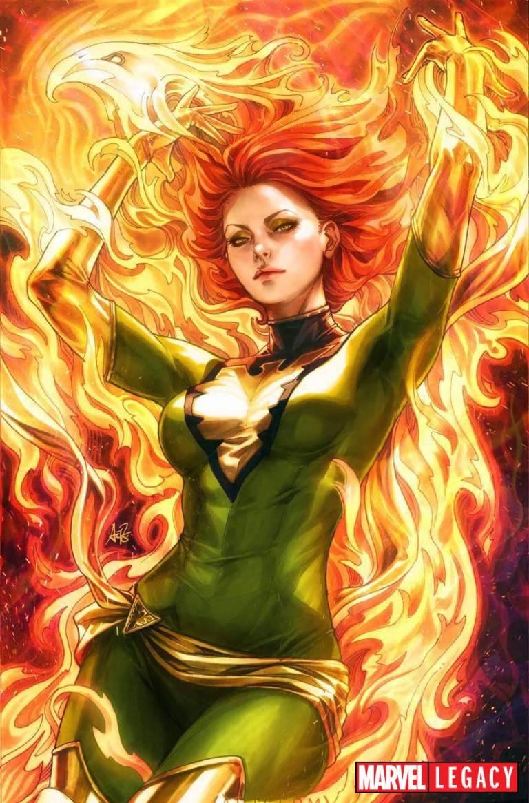 Phoenix Resurrection The Return Of Jean Grey #1 (Cover B Artgerm Green Costume Variant)