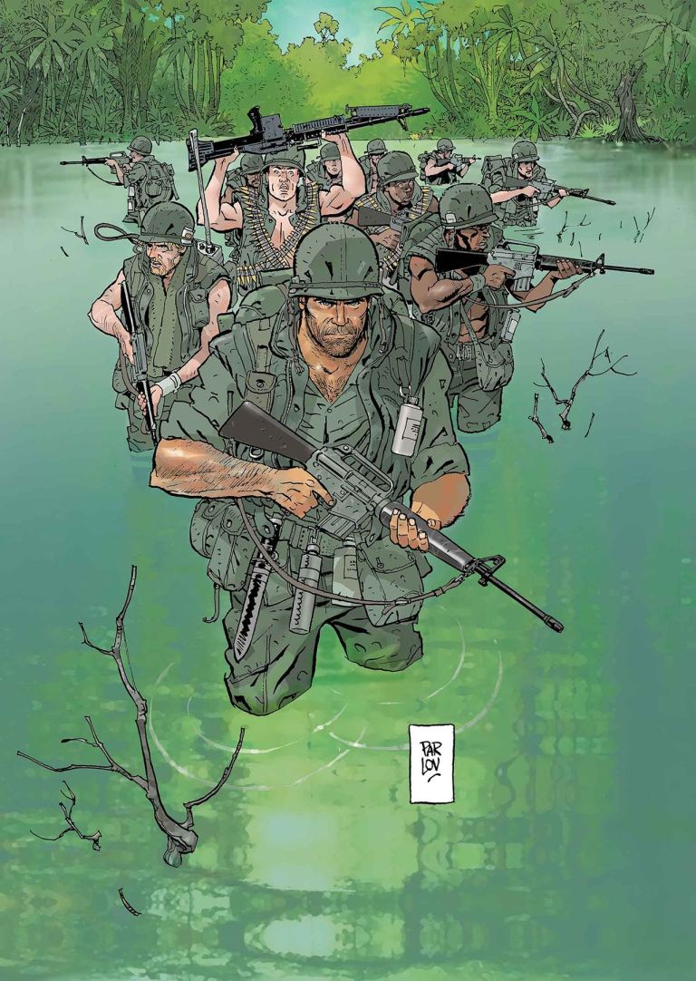 Punisher Platoon #3 (Goran Parlov Cover)