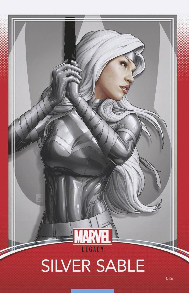 Silver Sable And The Wild Pack #36 (Cover C John Tyler Christopher Trading Card Variant)