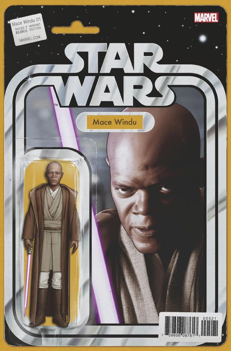 Star Wars Jedi Of The Republic Mace Windu #5 (Cover B John Tyler Christopher Action Figure Variant)