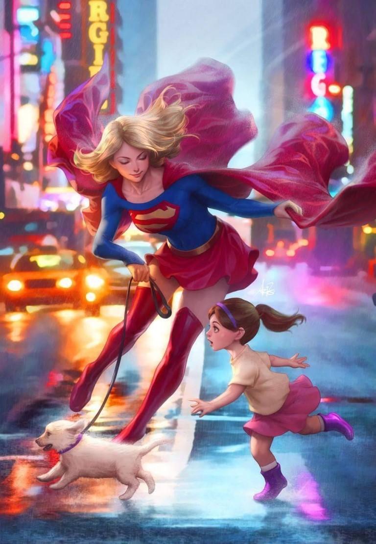 Supergirl #17 (Cover B Stanley Artgerm Lau)