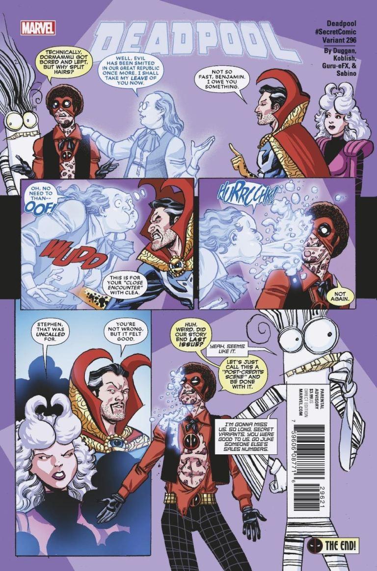 Despicable Deadpool #296 (Cover B Scott Koblish Secret Comics Variant)