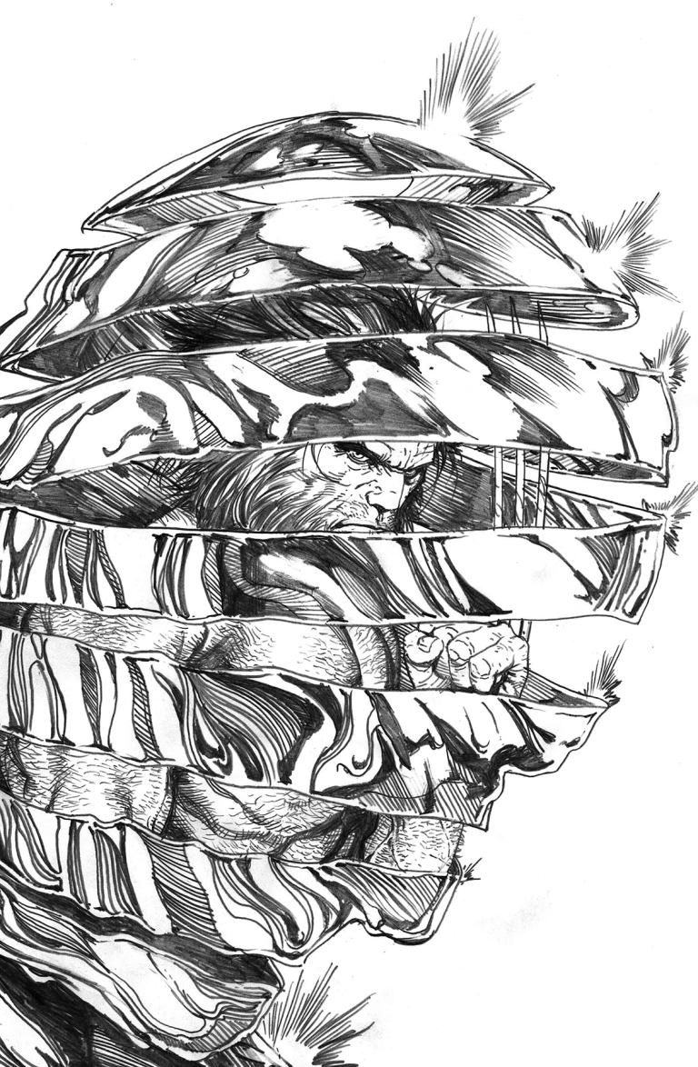Hunt For Wolverine #1 (Cover B Steve McNiven Black & White Variant)