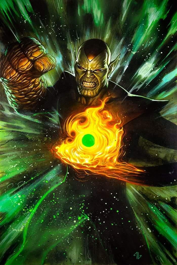 Infinity Countdown #2 (Cover E Adi Granov Super Skrull Holds Infinity Variant)