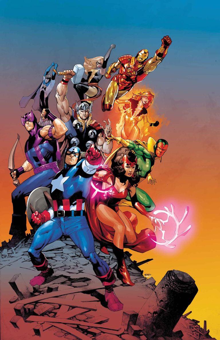 Invincible Iron Man #596 (Cover B Chris Stevens Avengers Variant)