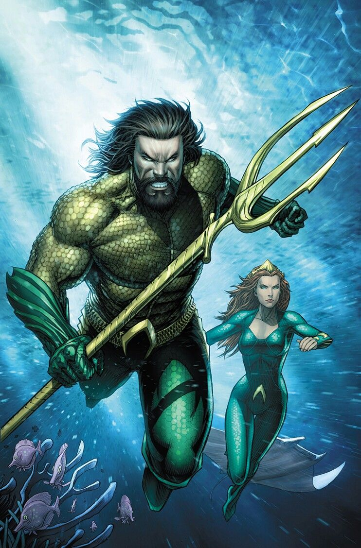 Aquaman Justice League Drowned Earth #1 (Cover B Dale Keown Aquaman Movie Variant)