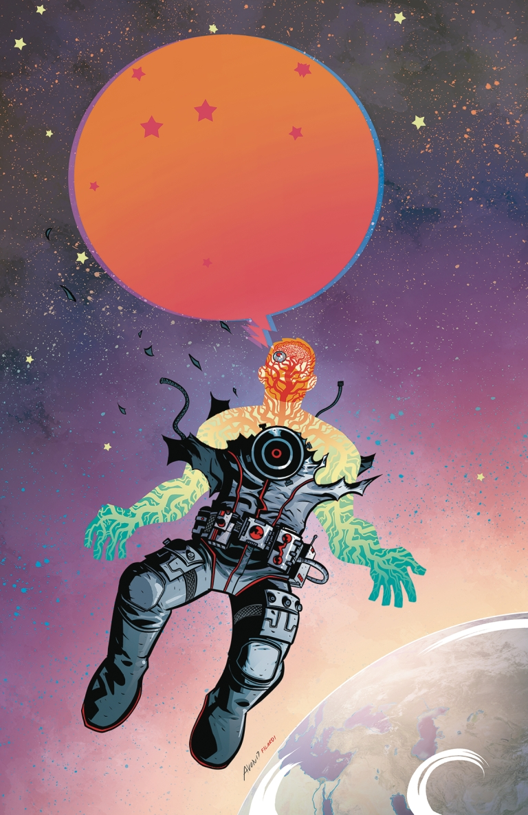 cave carson has an interstellar eye #1 (cover a michael avon oeming)