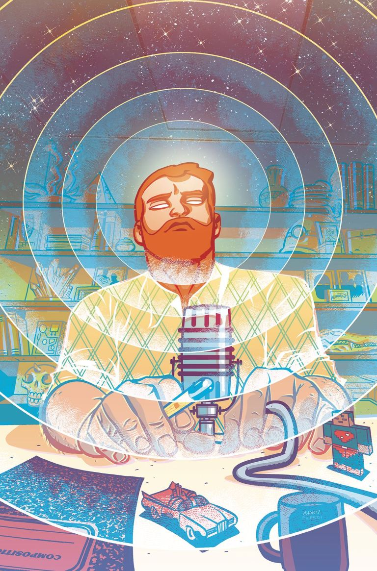 cave carson has an interstellar eye #6 (michael avon oeming cover)