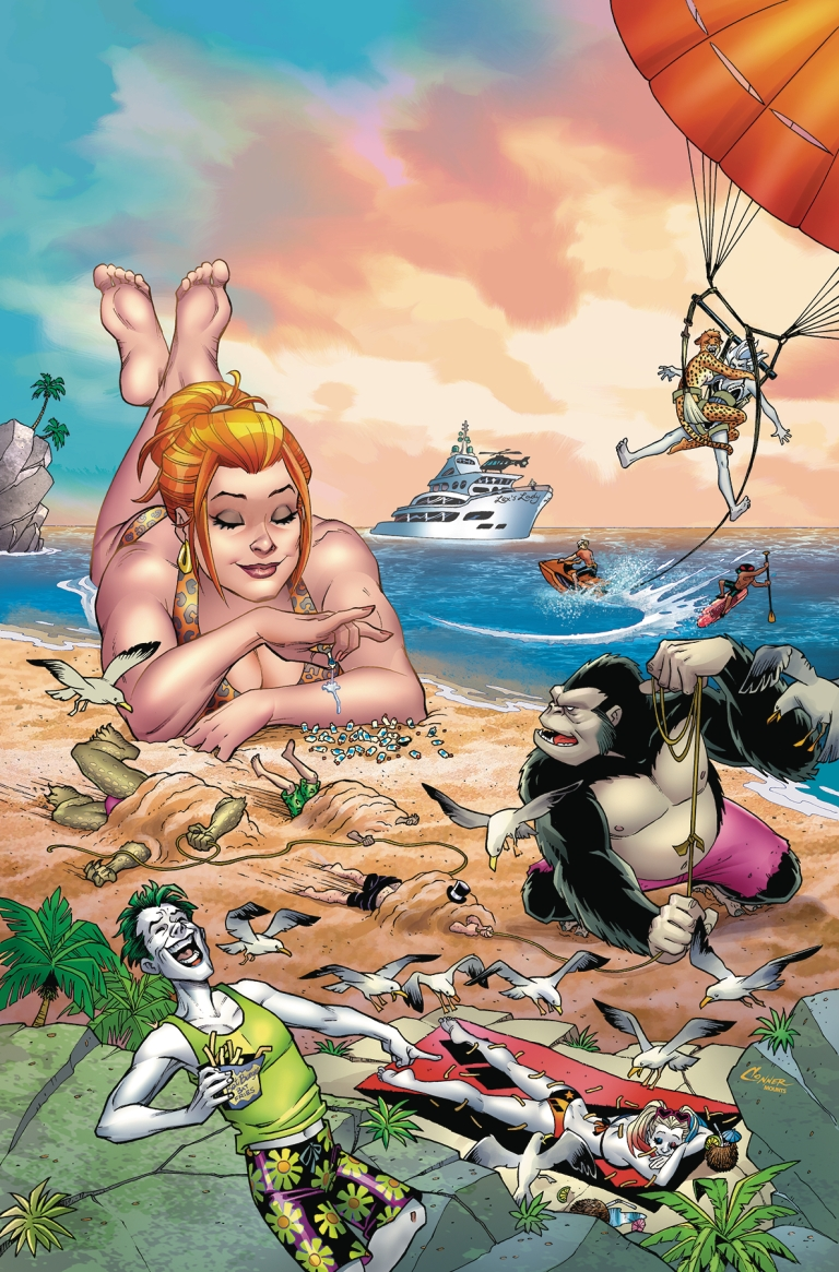 dc beach blanket bad guys special #1 (amanda conner cover)
