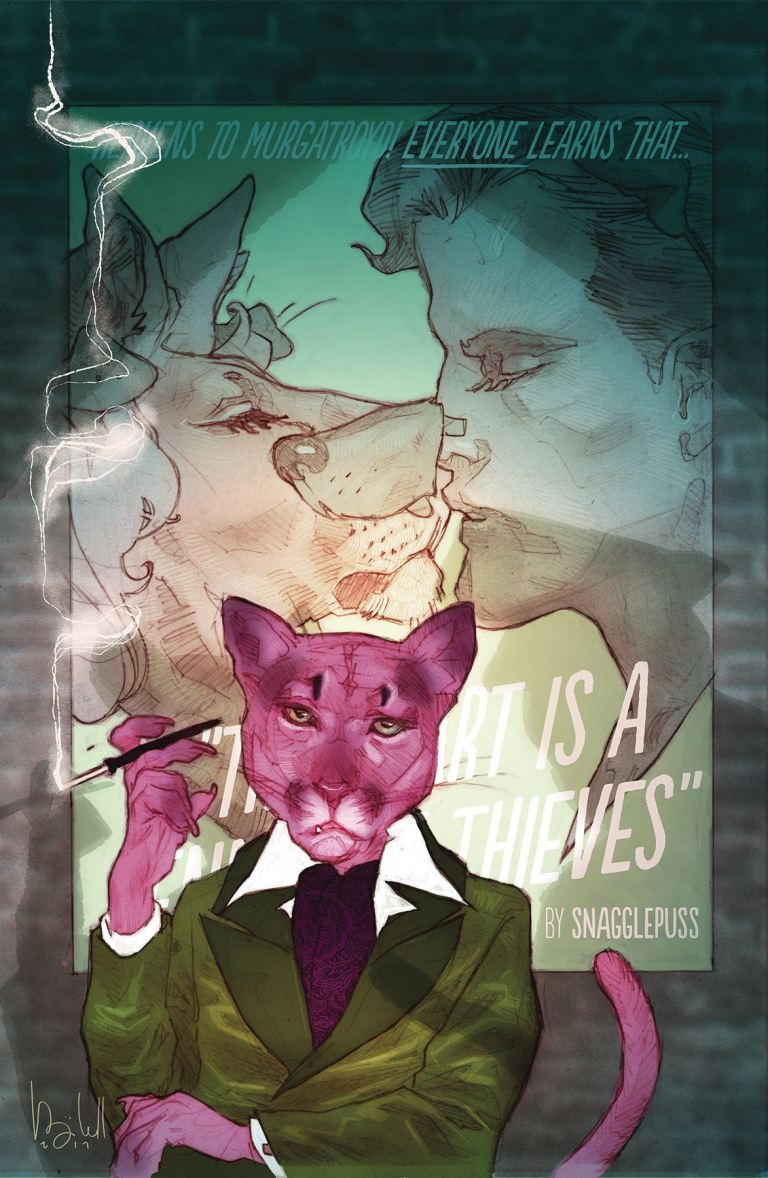 exit stage left the snagglepuss chronicles #2 (cover a ben caldwell)
