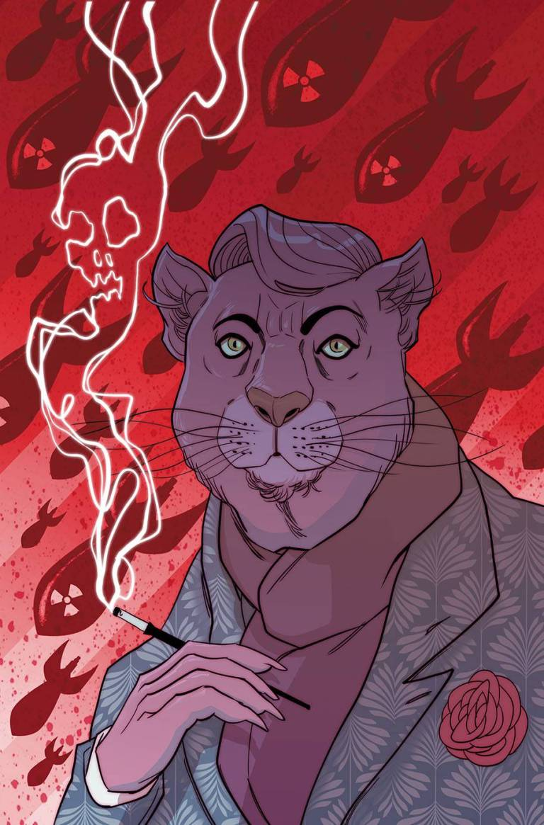 exit stage left the snagglepuss chronicles #4 (cover b marguerite sauvage)