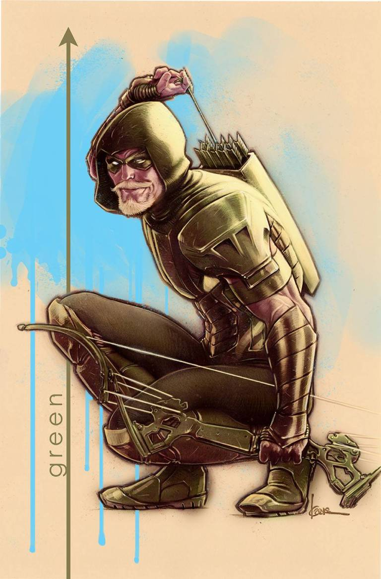 green arrow #45 (cover b kaare andrews)