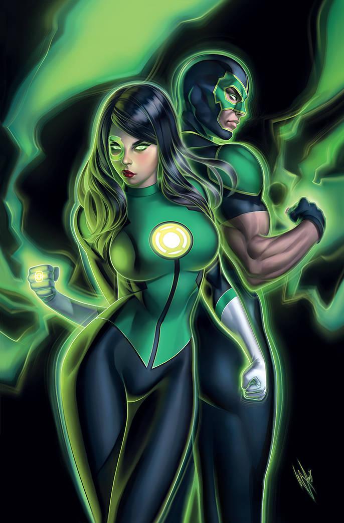 green lanterns #49 (cover b warren louw)